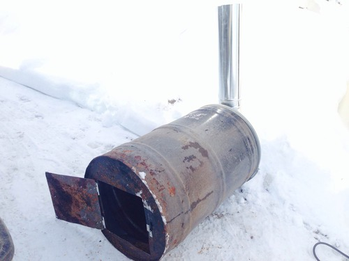 steel drum wood stove maple sap conversion